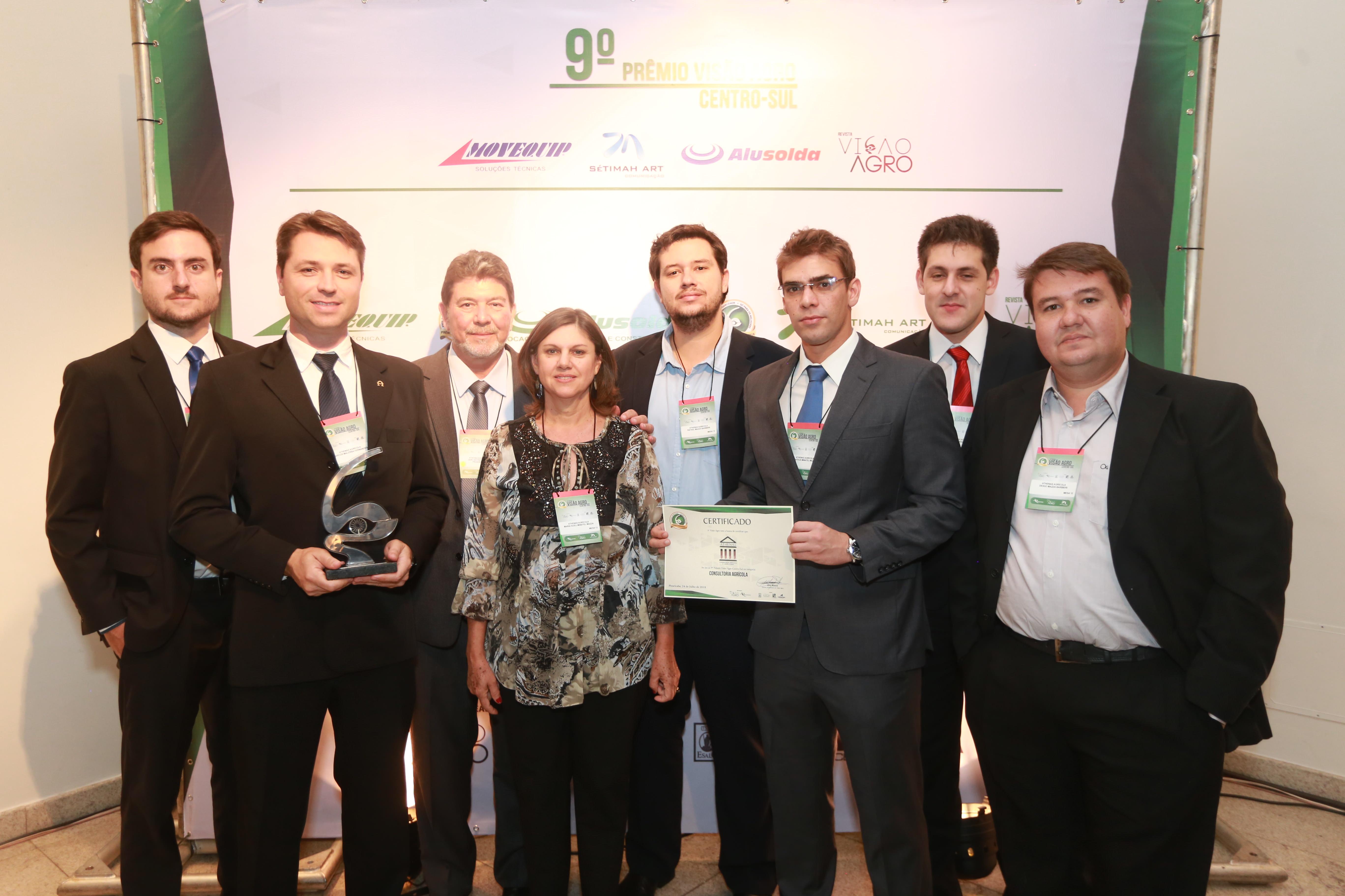 Prêmio de melhor Consultoria do Centro - Sul do Brasili